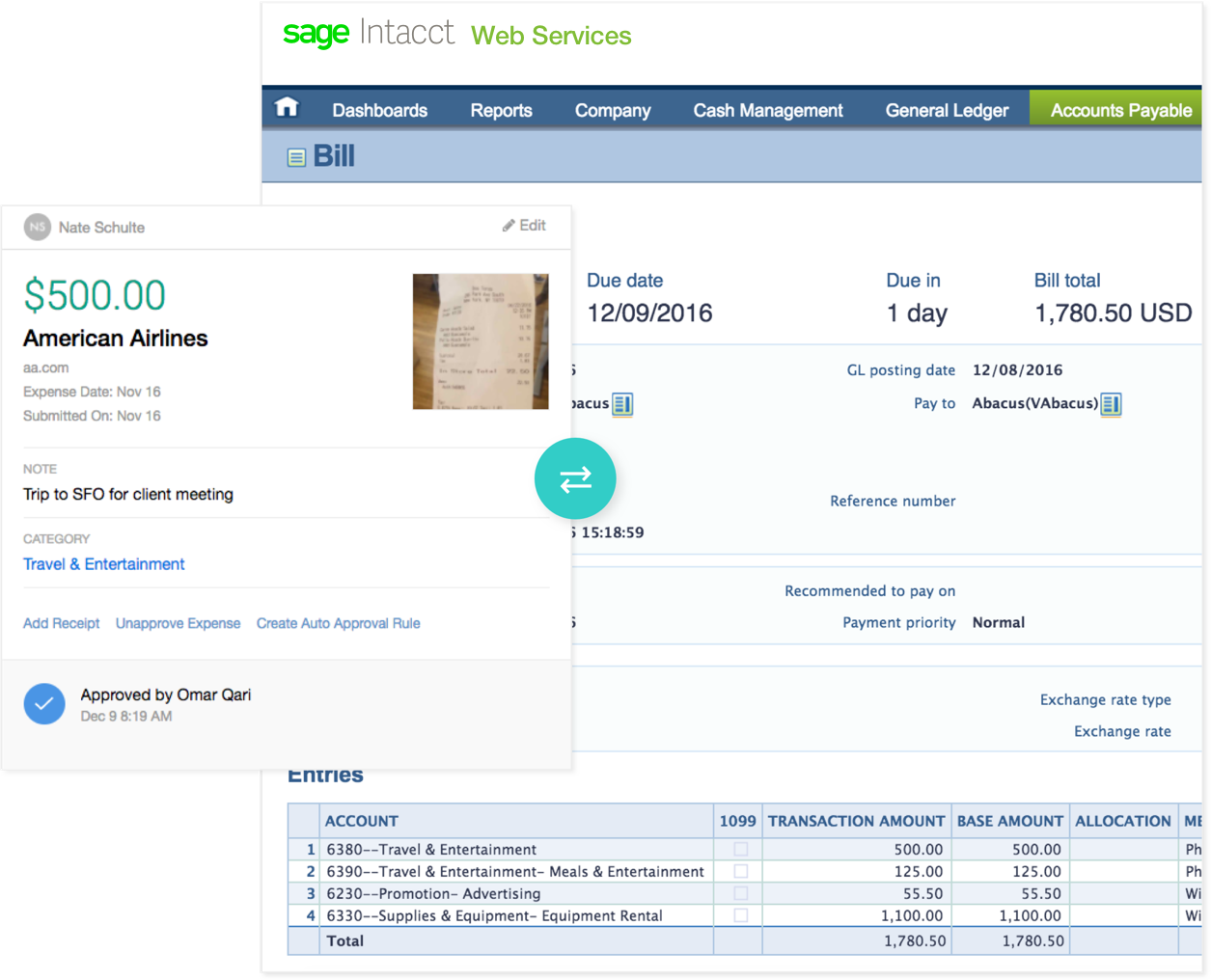 sage intacct expense reporting software