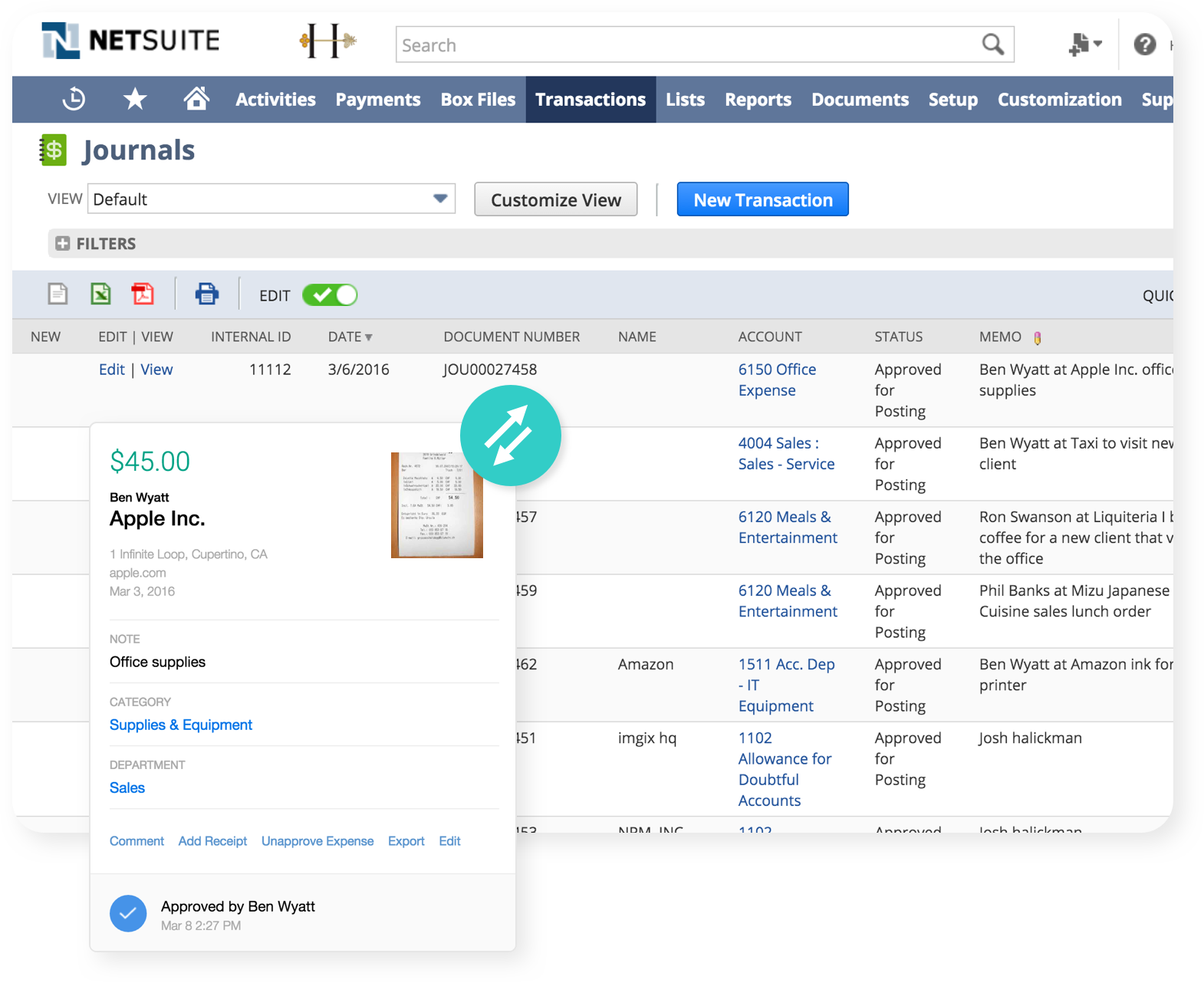 netsuite expense reporting software
