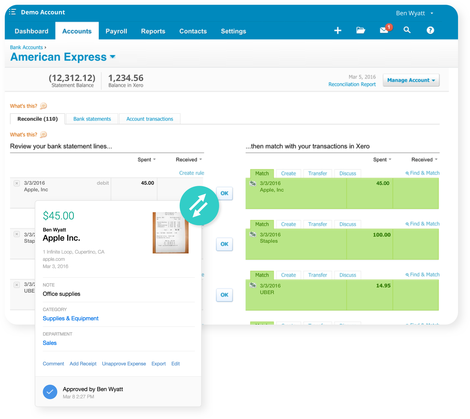 xero expense reporting software