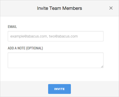 Abacus - Invite Users